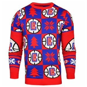 Los Angeles Clippers Patches Crew Neck Sweater